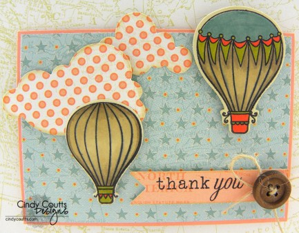 Flying High Thank You Card Image