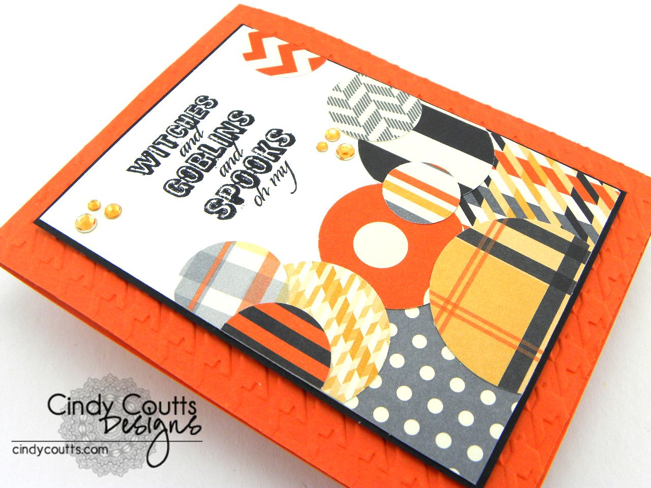 Halloween Circles Card Side View