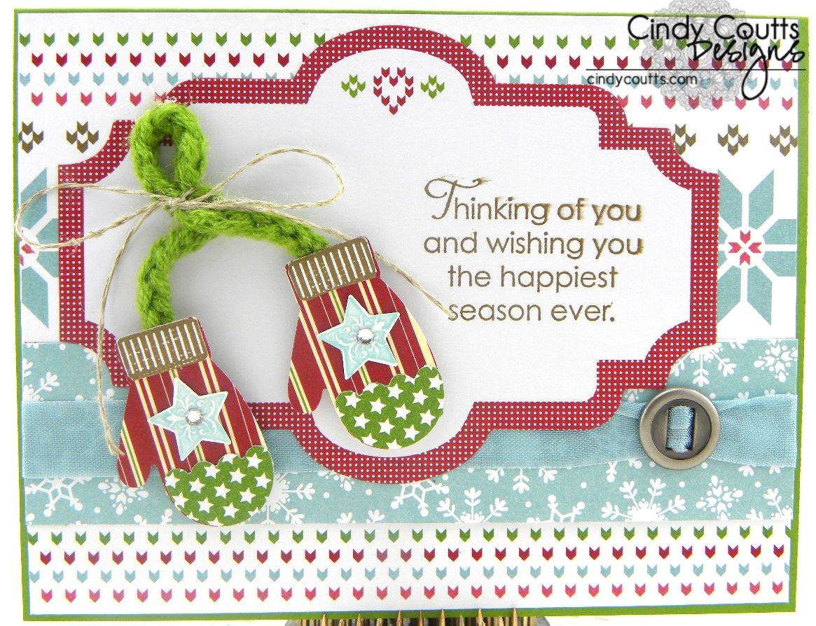Christmas Mittens Card