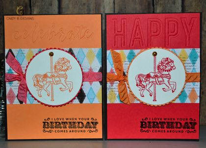 Stampin Up Occasions Catalog Week Textured Birthday Cards