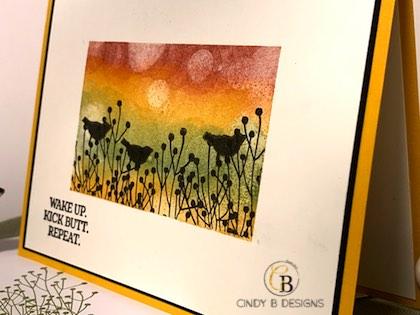 Bokeh Effect Ink Blending | Cindy B Designs