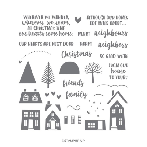 Neighbors From Our House To Yours Merry Christmas & God Bless 2020 From Our House to Yours + Snow Front | Cindy B Designs